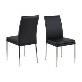 Set 2 scaune Actona Jolene, negru