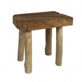 Taburet din lemn de tec și de mungur HSM Collection Aure