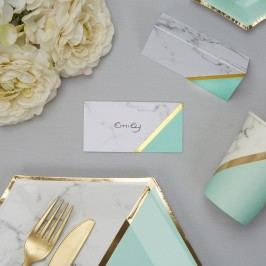 Set 10 etichete pentru nume Neviti Mint Colour Block Marble