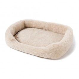Pat coș din lână merino, pentru animale de companie Royal Dream, lățime 60 cm, bej