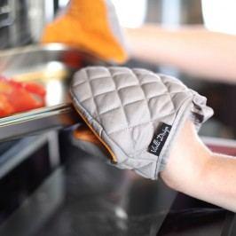 Mănușă de bucătărie din bumbac cu silicon Vialli Design, portocaliu - gri