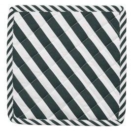 Set 2 suporturi oală fierbinte Miss Étoile Closed Eye Black Stripes, 22,4x22,4cm