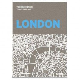 Jurnal pentru notițe pe hartă Palomar Transparent City Londra