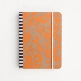 Agendă mică Caroline Gardner Mono Ditsy Small Chunky Notebook, portocaliu