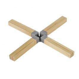 Suport din bambus pentru vase fierbinți Wenko Cross, gri