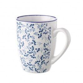 Cană Unimasa Meadow, albastru - alb