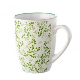 Cană Unimasa Meadow, verde-alb