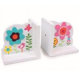 Suport lateral din lemn pentru cărți Legler Flower