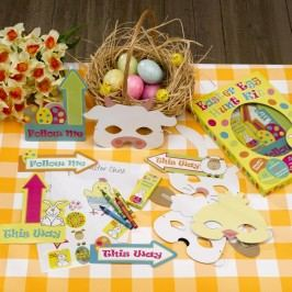 Joc creativ din hârtie Neviti Easter Craft Egg Hunt Kit