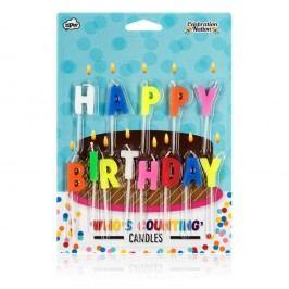 Set 13 lumânări pentru tort NPW Happy Birthday