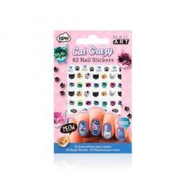 Set autocolante pentru unghii NPW Crazy Cat Nail Stickers