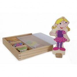 Figurină din lemn magnetică Legler Ramona