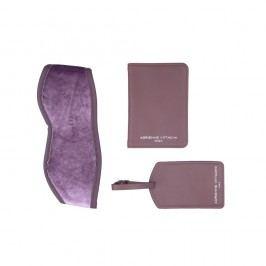 Set de călătorie: husă pașaport, etichetă bagaj, mască de somn Tri-Coastal Design, mov