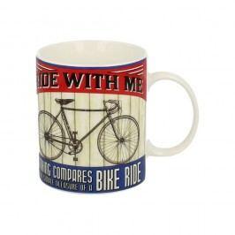 Cană din porțelan Duo Gift Bicycle, 430 ml