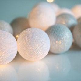 Șirag luminos Irislights Silver, 10 beculețe