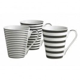 Set 3 căni KJ Collection Stripes, 300 ml
