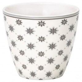 Pahar din ceramică Green Gate Laurie Latté, gri-alb
