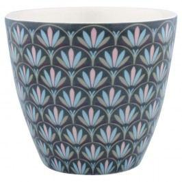 Pahar din ceramică Green Gate Victorie Latté, gri-alb