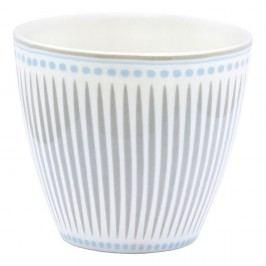 Pahar din ceramică Green Gate Vita Latté, gri-albastru