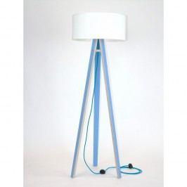 Lampă albastră cu abajur alb și cablu turcoaz Ragaba Wanda