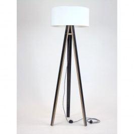 Lampă neagră cu abajur alb și cablu alb negru Ragaba Wanda