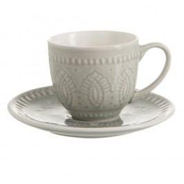 Ceașcă cu farfurie din ceramică J-Line Anitta