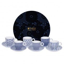 Set 6 cești cu farfurioară pentru espresso Tokyo Design Studio