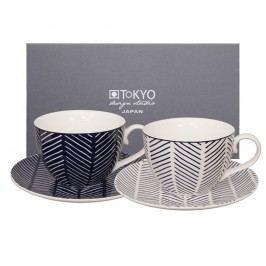 Set 2 căni cu farfurie Tokyo Design Studio Yoko Yoki