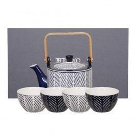 Set ceainic și 4 cești Tokyo Design Studio Yoko Yoki