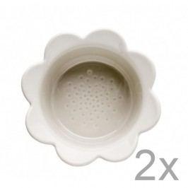 Set 2 castroane cu flori Sagaform Piccadilly, 13 x 6,5 cm, bej