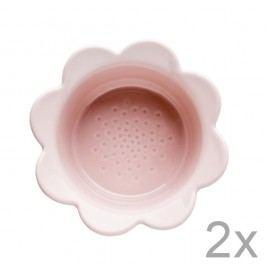 Set 2 castroane cu flori Sagaform Piccadilly, 13x6,5cm,roz
