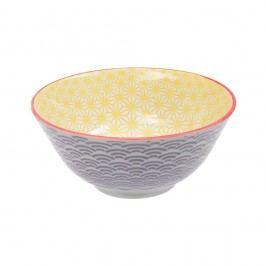 Bol de porțelan Tokyo Design Studio Star, ⌀ 15,2 cm, mov - galben