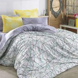 Lenjerie de pat cu cearșaf Elias Yellow, 200 x 220 cm