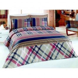 Lenjerie de pat cu cearșaf Crossed, 200 x 220 cm