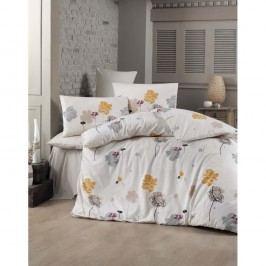 Lenjerie de pat cu cearșaf Flowie, 200 x 220 cm