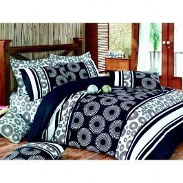 Lenjerie de pat cu cearșaf Sema Black, 200 x 220 cm