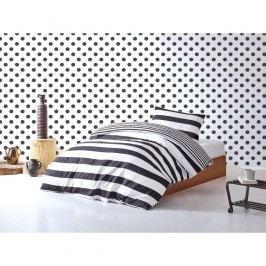 Set lenjerie și cearșaf din bumbac pentru pat single Swanson, 160 x 220 cm