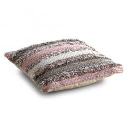 Pernă texturată cu umplutură Geese Ceylon, 45x 45 cm, gri - roz