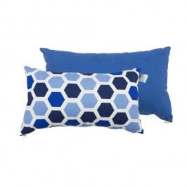 Set 2 perne Karup Deco Cushion Ocean Geometry/Navy, 45 x 25 cm