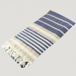 Prosop baie Hammam Bath Style Blue & Beige, 90x180 cm