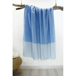 Prosop cu dungi Hammam Marine Style, 100 x 170 cm, albastru deschis