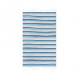 Prosop baie hammam Begonville Skye Cool, 180 x 95 cm, albastru