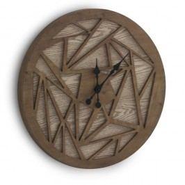 Ceas de perete Geese Time Traveller, Ø 60 cm, maro