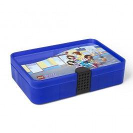 Cutie depozitare compartimentată LEGO® Friends, albastru