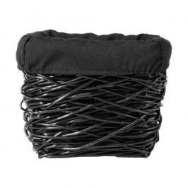 Coș depozitare din răchită Compactor Crazy, 28x28cm, negru