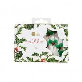 Șirag luminos de Crăciun Talking Tables Botanical Holly, 30 beculețe