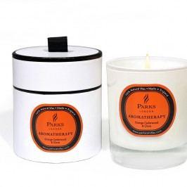 Lumânare parfumată Parks Candles London Aromatherapy, aromă de lemn de cedru, cuișoare și portocal, 45 ore