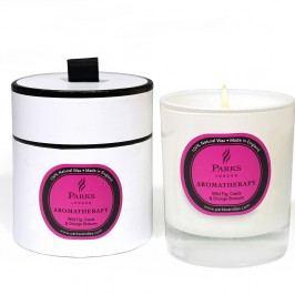 Lumânare parfumată Parks Candles London Aromatherapy, aromă de smochin și floare de portocal, 50 ore