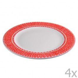 Set 4 farfurii din porțelan Oilily 27 cm, roșu