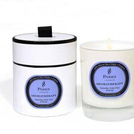 Lumânare parfumată Parks Candles London Aromatherapy, aromă de violete, mușețel și miere, 50 ore